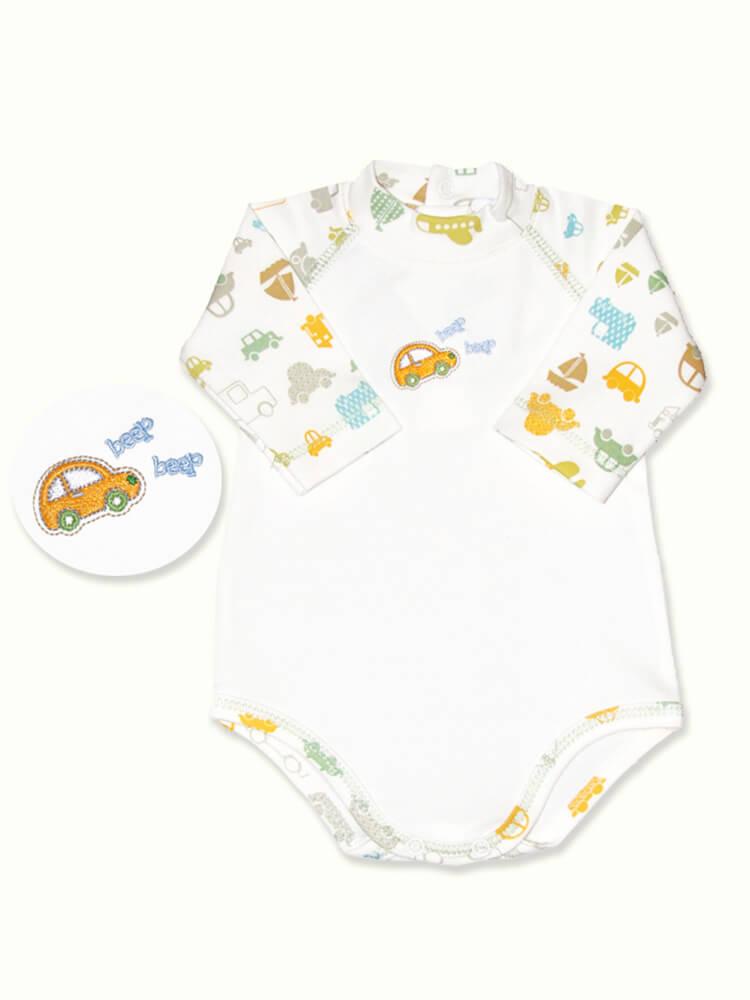 My Baby micro preemie size travel print long sleeve pima